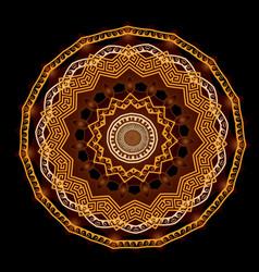 ornamental round mandala pattern floral vector image