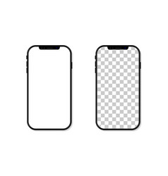 phone screen frame and template cellphone vector image
