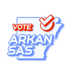 presidential vote in arkansas usa 2020 state map vector image