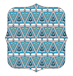 Quadrate with pattern abstract shapes backgroun vector