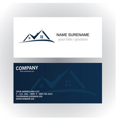 Real estate logo business card vector