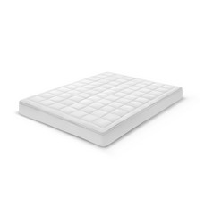 Realistic 3d double white mattress for bedroom vector