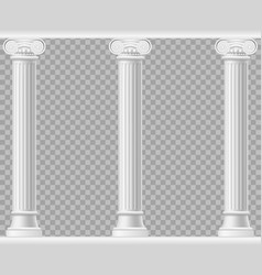 realistic detailed 3d white blank ionic column vector image