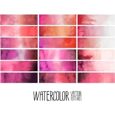 red watercolor gradient rectangles vector image