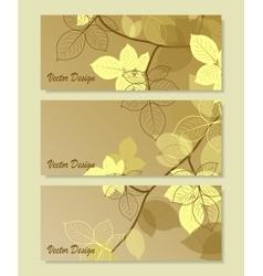 Set of horizontal banners vector image
