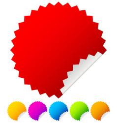 Starburst stickers with peel vector