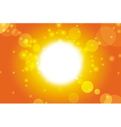 Summer background - sky and sunshine vector