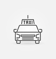Taxi service concept icon in outline style vector