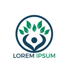 tree human logo design vector image