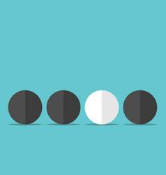Unique white sphere vector