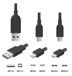 USB Plugs vector