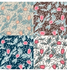 Vintage floral seamless vector image