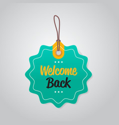 Welcome back tag we are open again coronavirus vector