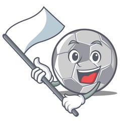 With flag football character cartoon style vector