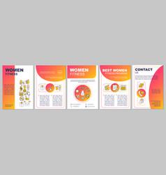 Women fitness brochure template layout vector