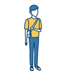 young man student cartoon vector image