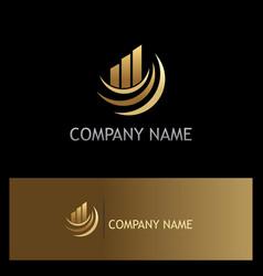 business finance progress gold company logo vector image