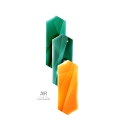 Colorful arrows on white Blank geometric abstract vector image