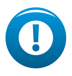 exclamation point icon blue vector image