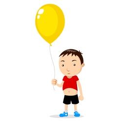 Kid Holding A Balloon vector image vector image