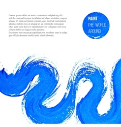 abstract blue brush stroke vector image