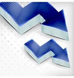 blue 3d arrow background vector image