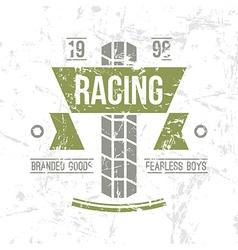 Emblem motorcycle racing club in retro style vector image vector image