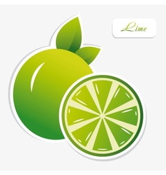 lime sticker vector image
