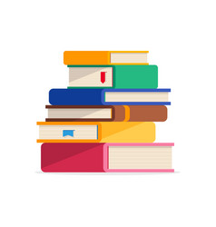 pile of books in a flat style isolated vector image vector image