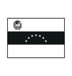 Venezuela Flag monochrome on white background vector image vector image