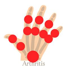arthritis hand icon cartoon style vector image vector image