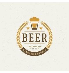 Beer Logo Design Element vector image vector image