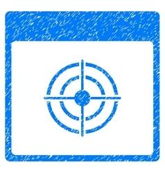 Bullseye Calendar Page Grainy Texture Icon vector image vector image