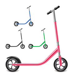 kick scooter isolated on white vector image vector image
