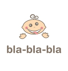 mad funny kid icon vector image