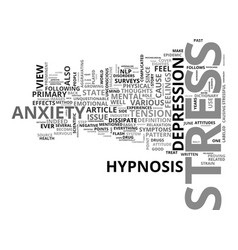 anxiety and responsibility text word cloud concept vector image vector image