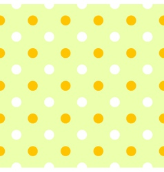 Cute spring polka dots pattern or background vector image vector image