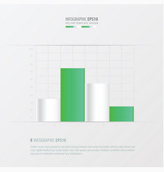 graph and infographic design vector image