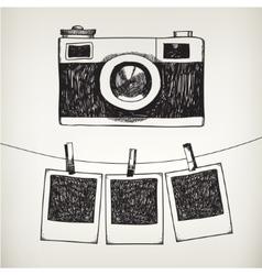 hand drawn doodle of retro vector image vector image