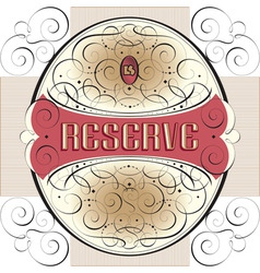 ornate label design vector image