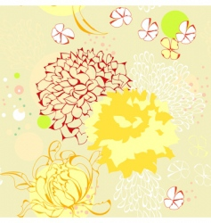 seamless wallpaper with floral element vector image vector image