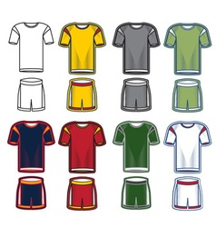 Set of soccer uniform vector