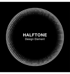 White Abstract Halftone Circle Logo Design Element vector image vector image
