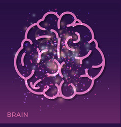 abstract creative brain background - colorful vector image