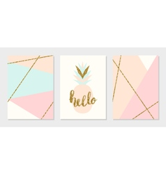 Abstract Design Cards Collection vector image