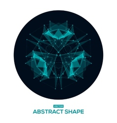 Abstract geometric shape low poly HUD vector