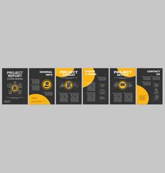 Ai brochure template layout artificial vector