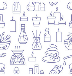 aromatherapy seamless pattern with flat vector image