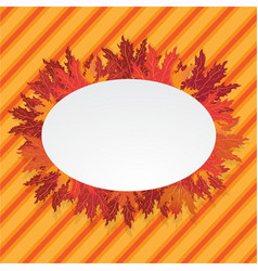 autumn leafs oval lable vector image