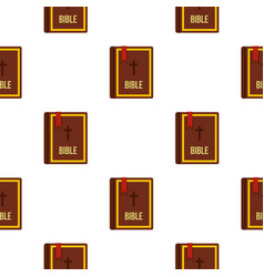 Bible book pattern flat vector